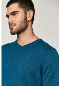 medicine - Medicine - Sweter Basic. Okazja: na co dzień. Kolor: turkusowy. Długość rękawa: długi rękaw. Długość: długie. Styl: casual