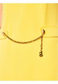 Żółta sukienka Luisa Spagnoli prosta, na co dzień, casualowa