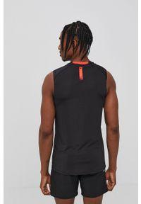 4f - 4F - T-shirt. Okazja: na co dzień. Kolor: czarny. Materiał: włókno, dzianina. Styl: casual