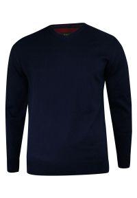 Niebieski sweter MM Classic na co dzień, klasyczny