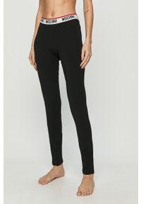 Czarne legginsy Moschino Underwear z nadrukiem