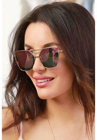 Różowe okulary przeciwsłoneczne IVET