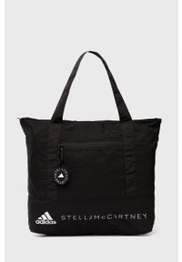 Adidas by Stella McCartney - adidas by Stella McCartney - Torba. Kolor: czarny. Materiał: poliester. Wzór: nadruk
