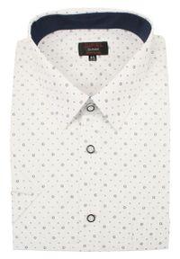 Biała elegancka koszula Jurel z klasycznym kołnierzykiem, krótka