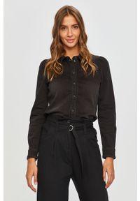 Czarna koszula only klasyczna, na co dzień, długa