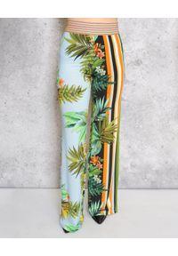 CRISTINAEFFE - Szerokie spodnie z kwiatowym printem. Kolor: zielony. Długość: długie. Wzór: kwiaty, nadruk. Sezon: lato