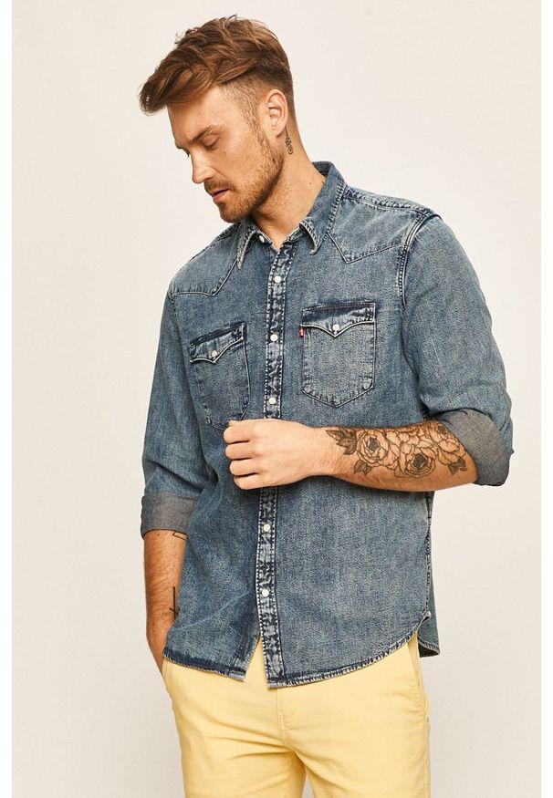 Niebieska koszula Levi's® długa, na co dzień, klasyczna