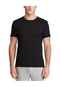 Czarny t-shirt Ralph Lauren z haftami, klasyczny