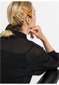 Ozdoby do włosów (4 części) bonprix brązowo-złoty kolor - ciemnooliwkowy