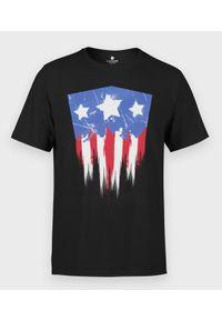 MegaKoszulki - Koszulka męska Kapitan Ameryka Drip. Materiał: bawełna