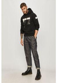 G-Star RAW - G-Star Raw - Bluza. Okazja: na co dzień. Kolor: czarny. Wzór: nadruk. Styl: casual