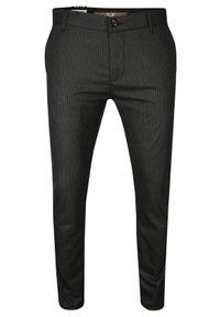 Szare spodnie Tomy Walker w paski, casualowe