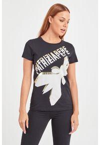 T-shirt Patrizia Pepe na co dzień, casualowy, w kolorowe wzory