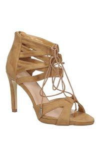 Brązowe sandały vices klasyczne, na lato, w kolorowe wzory