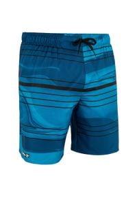 OLAIAN - Spodenki Surfing Standardowe Bs 100S Glide Petrol. Kolor: wielokolorowy, turkusowy, niebieski. Materiał: materiał, poliester. Długość: krótkie. Styl: klasyczny