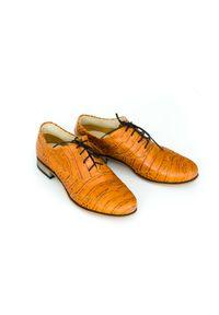 Półbuty Zapato z cholewką, wąskie, w kolorowe wzory, biznesowe