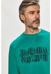 Pepe Jeans - Bluza bawełniana Aivin. Okazja: na co dzień. Kolor: turkusowy. Materiał: bawełna. Wzór: nadruk. Styl: casual