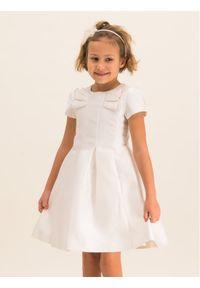 Biała sukienka wizytowa Mayoral
