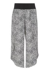 Cellbes Spodnie typu culotte z rozcięciami w cętki we wzory female ze wzorem 50/52. Materiał: jersey, tkanina