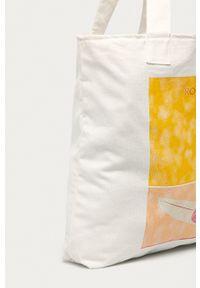 Roxy - Torebka. Kolor: biały. Wzór: aplikacja. Dodatki: z aplikacjami. Rodzaj torebki: na ramię