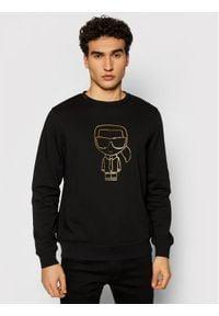 Karl Lagerfeld - KARL LAGERFELD Bluza Sweat 705080 511900 Czarny Regular Fit. Typ kołnierza: dekolt w karo. Kolor: czarny