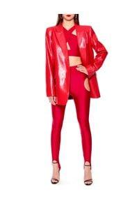 AGGI - Czerwony top Isla. Kolor: czerwony. Materiał: materiał. Długość rękawa: na ramiączkach