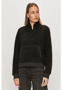 Czarna bluza Calvin Klein Jeans z długim rękawem, krótka, casualowa