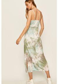 Zielona sukienka ANSWEAR casualowa, na ramiączkach