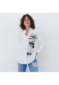 Mohito - Długa koszula Eco Aware - Biały. Kolor: biały. Długość: długie