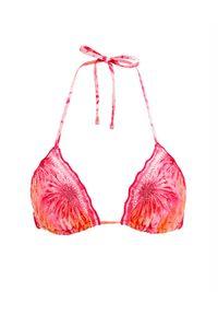 AGUA BENDITA - Top od bikini Lolita Oazze. Kolor: różowy, wielokolorowy, fioletowy. Wzór: aplikacja