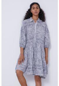 medicine - Medicine - Sukienka Essential. Kolor: biały. Materiał: tkanina. Typ sukienki: rozkloszowane