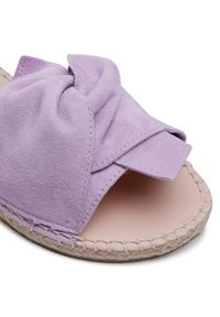 Manebi - Espadryle MANEBI - Sandals With Knot M 9.8 JK Lilac. Kolor: fioletowy. Materiał: zamsz, skóra. Wzór: aplikacja. Sezon: lato. Styl: elegancki