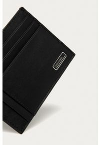 Calvin Klein - Portfel skórzany. Kolor: czarny. Materiał: skóra. Wzór: gładki