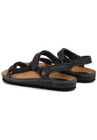 Czarne sandały Nik na co dzień, casualowe