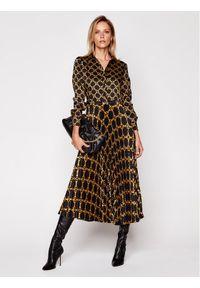 Sukienka TwinSet koszulowa, w kolorowe wzory