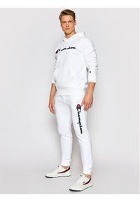 Champion Bluza Satin Script Logo 214183 Biały Comfort Fit. Kolor: biały