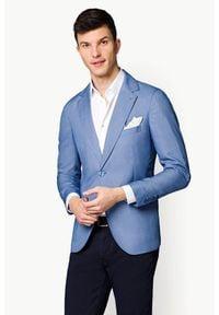 Lancerto - Marynarka Niebieska Visalia. Okazja: na co dzień. Kolor: niebieski. Materiał: elastan, poliester, wiskoza, bawełna, jeans. Sezon: lato, wiosna. Styl: casual