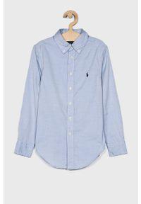 Niebieska koszula Polo Ralph Lauren casualowa, długa, na co dzień