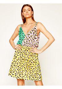 Love Moschino - LOVE MOSCHINO Sukienka letnia WVI0300T 9963 Kolorowy Regular Fit. Wzór: kolorowy. Sezon: lato