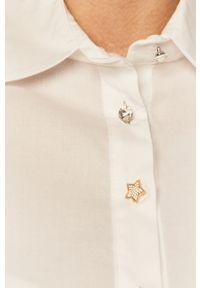 Biała koszula Liu Jo gładkie, na co dzień, z klasycznym kołnierzykiem, długa