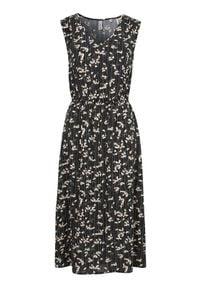 Soyaconcept Wzorzysta sukienka z wiskozy Ohio Czarny we wzory female czarny/ze wzorem M (40). Typ kołnierza: dekolt w serek. Kolor: czarny. Materiał: wiskoza. Długość rękawa: bez rękawów