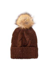 Brązowa czapka zimowa Wittchen