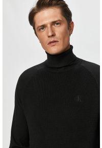 Czarny sweter Calvin Klein Jeans długi, z długim rękawem