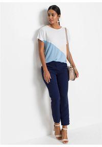 """Shirt """"color-blocking"""" bonprix biało-beżowo-jasnoniebieski. Kolor: biały. Długość rękawa: krótki rękaw. Długość: krótkie #5"""