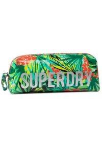 Superdry Piórnik Jelly Pencil Case W9810025A Zielony. Kolor: zielony