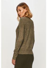 Zielony sweter Jacqueline de Yong długi, z długim rękawem