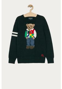 Niebieski sweter Polo Ralph Lauren na co dzień, polo, casualowy