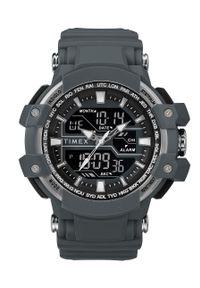 Szary zegarek Timex cyfrowy