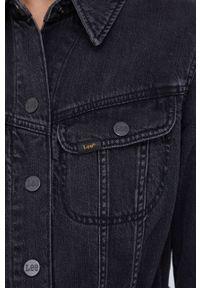 Lee - Sukienka jeansowa. Okazja: na co dzień. Kolor: czarny. Materiał: jeans. Długość rękawa: długi rękaw. Typ sukienki: proste. Styl: casual