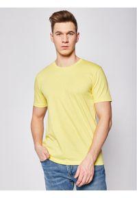 BOSS - Boss T-Shirt Lecco 80 50385281 Żółty Regular Fit. Kolor: żółty